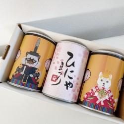ひな祭り缶入りパン3缶セット