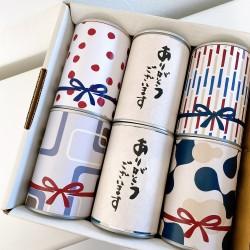 缶入りパン6缶 WAGARA【ありがとうございます】赤セット