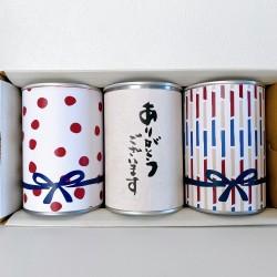 缶入りパン3缶 WAGARA【ありがとうございます】赤セット