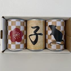 干支【子】缶入りパン3缶セット